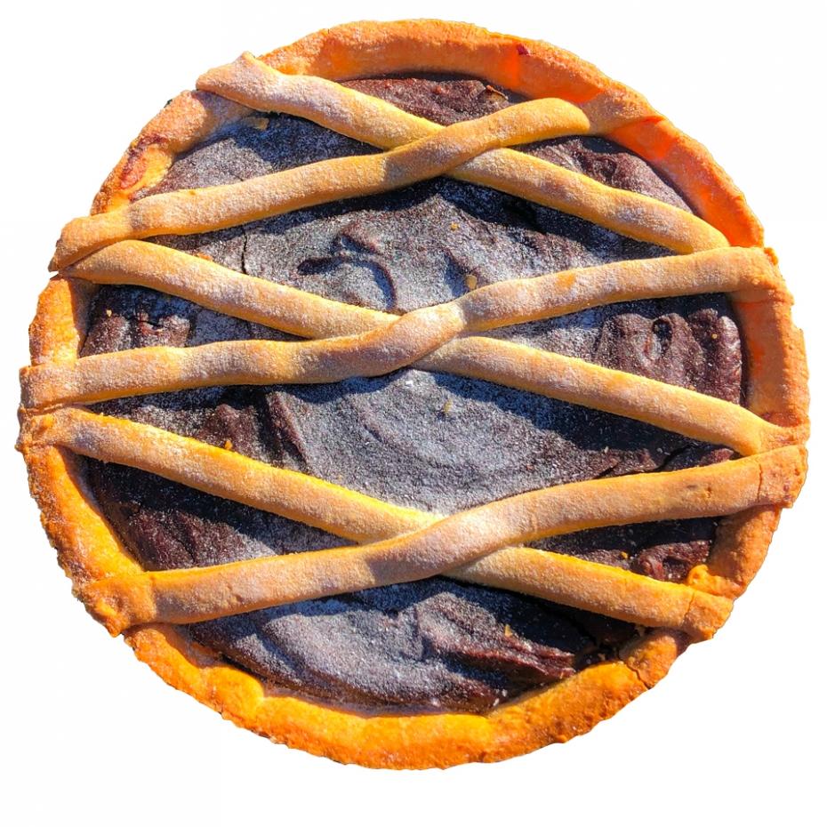 Crostata al cioccolato variegata all'albicocca
